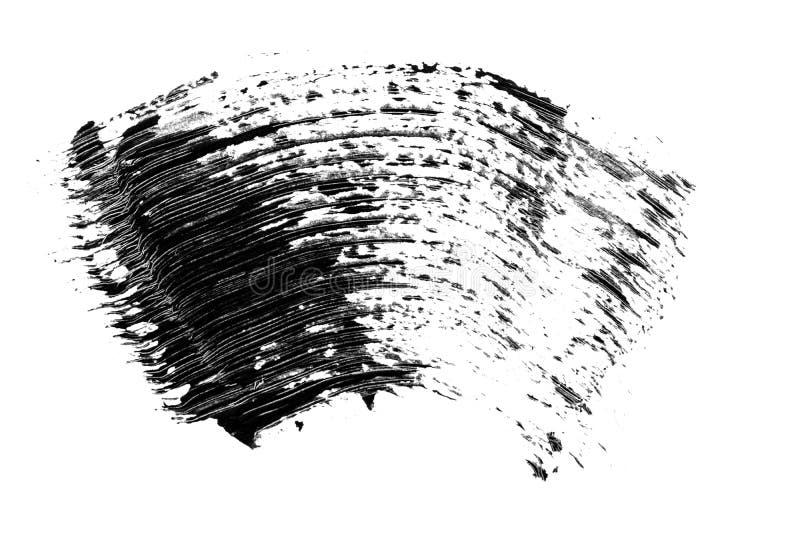 Καλλυντικό μαύρο mascara eyelashes δείγμα κτυπήματος βουρτσών, που απομονώνεται στο άσπρο υπόβαθρο στοκ εικόνα με δικαίωμα ελεύθερης χρήσης