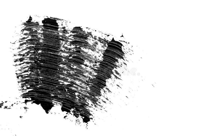 Καλλυντικό μαύρο mascara eyelashes δείγμα κτυπήματος βουρτσών, που απομονώνεται στο άσπρο υπόβαθρο στοκ φωτογραφία με δικαίωμα ελεύθερης χρήσης