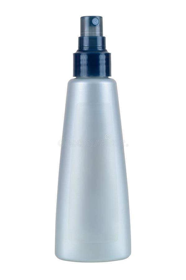 Καλλυντικό μπουκάλι στο άσπρο υπόβαθρο στοκ φωτογραφία με δικαίωμα ελεύθερης χρήσης