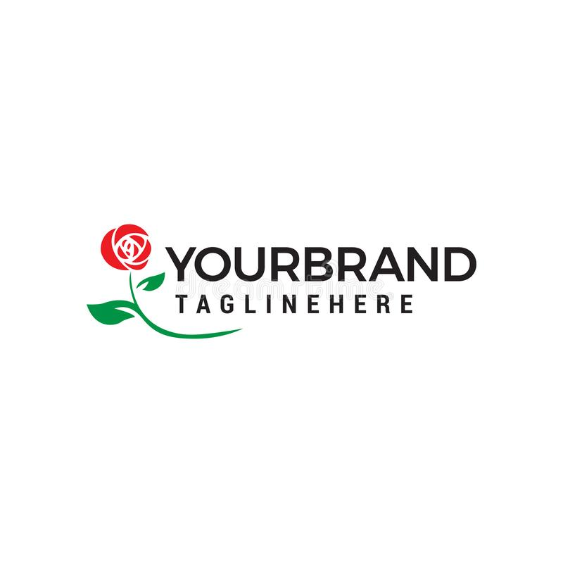 Καλλυντικό πρότυπο έννοιας σχεδίου λογότυπων λουλουδιών ελεύθερη απεικόνιση δικαιώματος