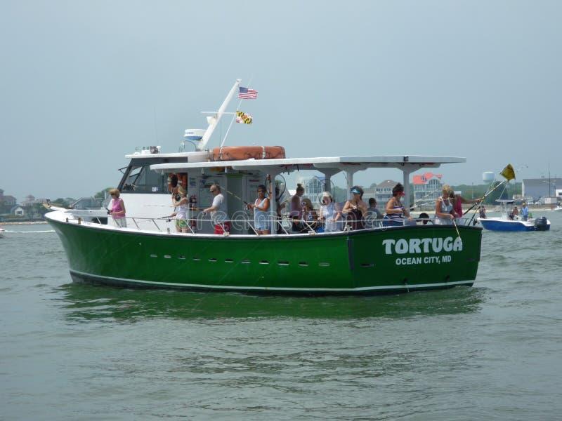 καλοκαίρι αλιείας headboat στοκ φωτογραφία