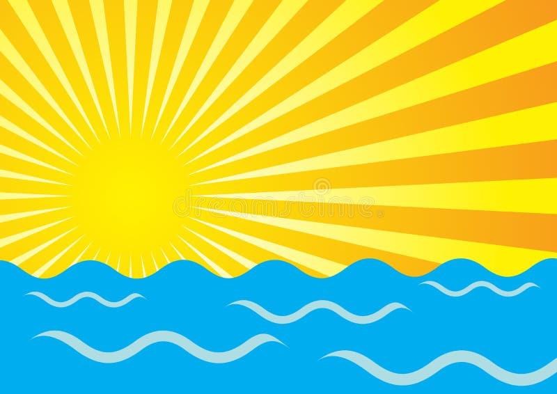 καλοκαίρι ανασκόπησης ελεύθερη απεικόνιση δικαιώματος