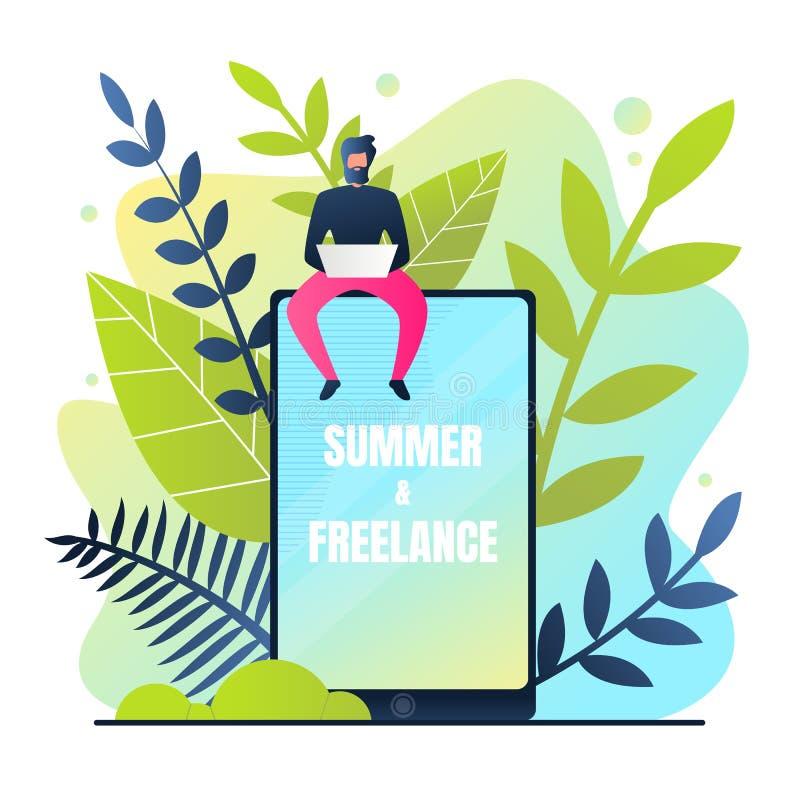 Καλοκαίρι αφισών και ανεξάρτητη διανυσματική απεικόνιση ελεύθερη απεικόνιση δικαιώματος