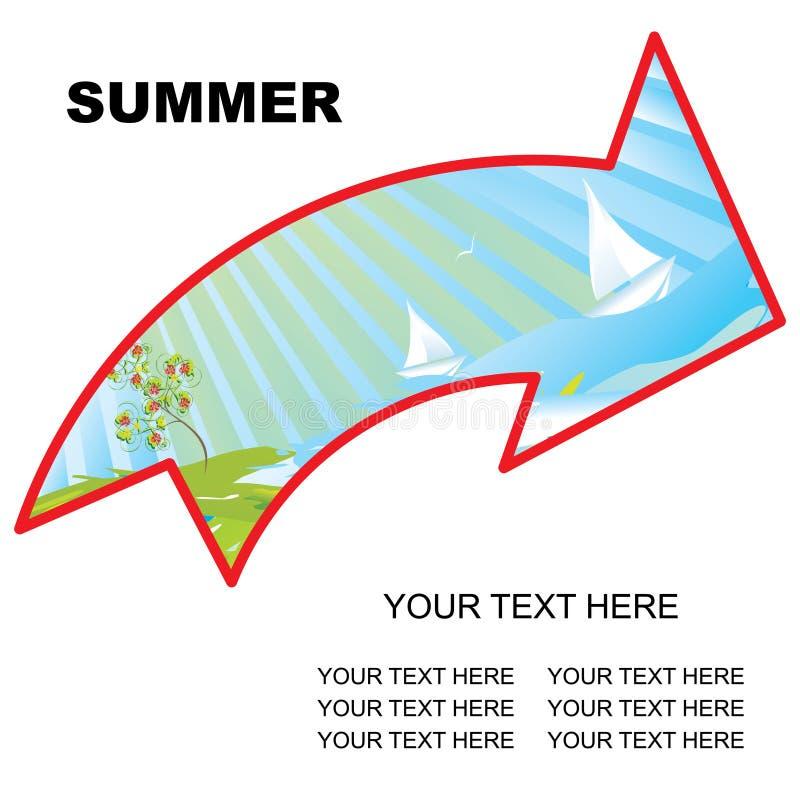 καλοκαίρι βελών διανυσματική απεικόνιση