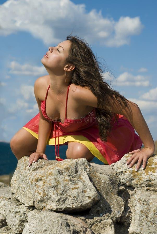 καλοκαίρι κοριτσιών στοκ φωτογραφία με δικαίωμα ελεύθερης χρήσης