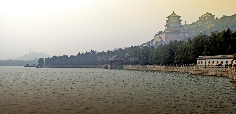 καλοκαίρι παλατιών του Πεκίνου στοκ εικόνες