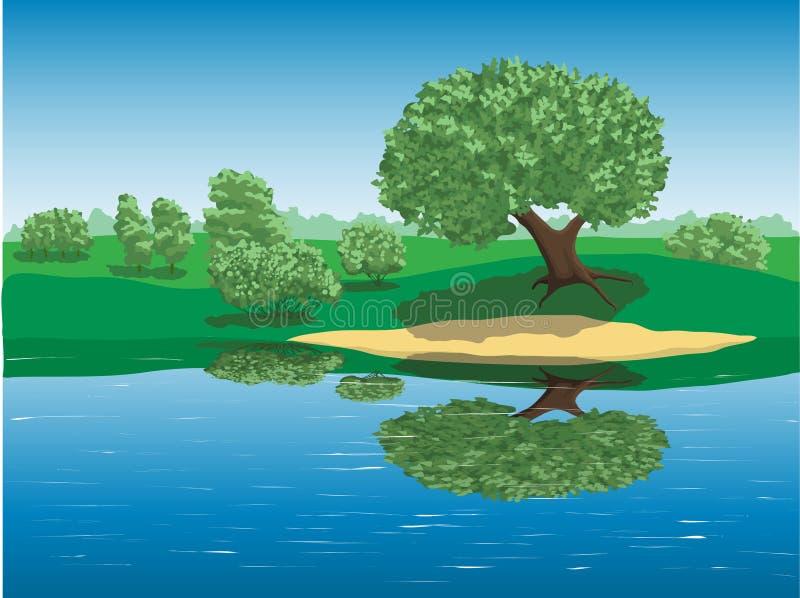 καλοκαίρι ποταμών ημέρας στοκ φωτογραφίες