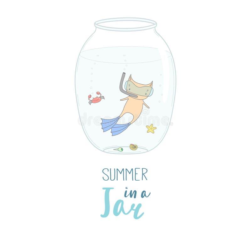 Καλοκαίρι σε μια απεικόνιση βάζων απεικόνιση αποθεμάτων