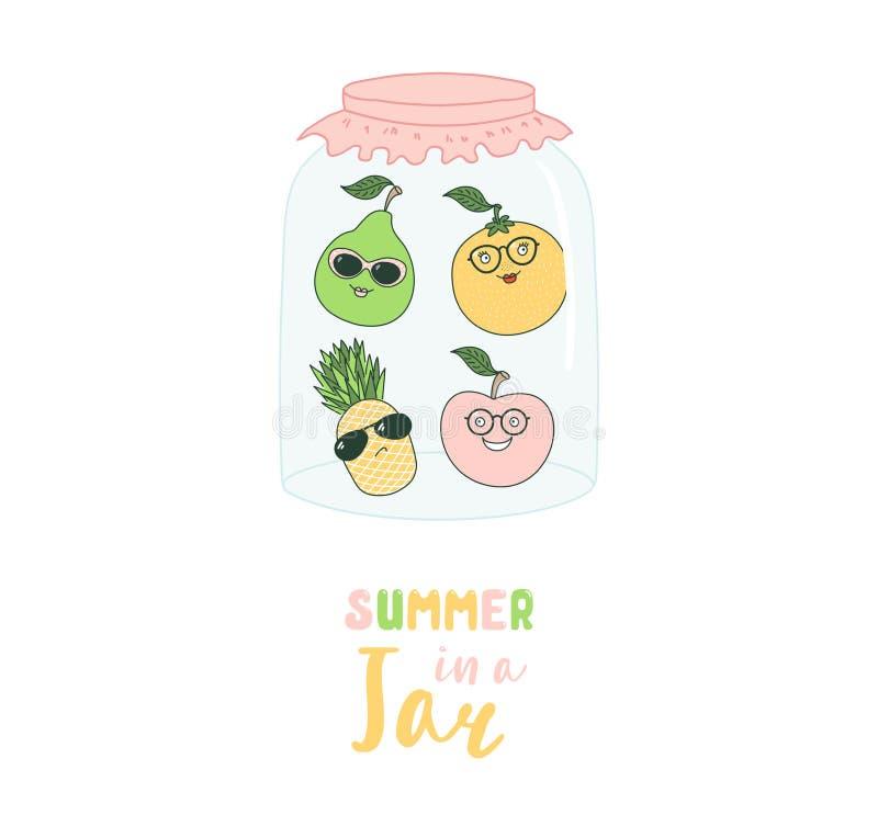 Καλοκαίρι σε μια απεικόνιση βάζων ελεύθερη απεικόνιση δικαιώματος