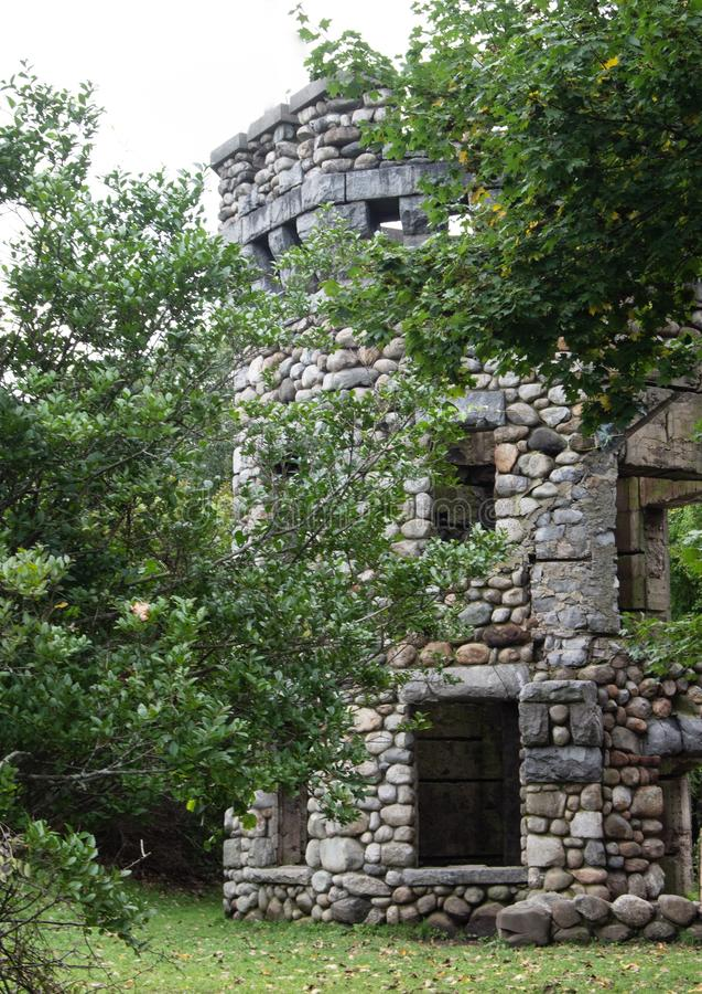 Καλοκαίρι στον πύργο Bancroft Castle, Groton, Μασαχουσέτη, κομητεία του Middlesex στοκ φωτογραφίες με δικαίωμα ελεύθερης χρήσης