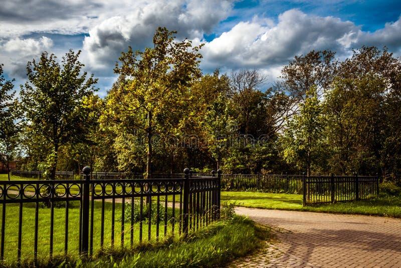 Καλοκαίρι στο πάρκο στο σταθερό KSK η προγενέστερη κοντινή Αγία Πετρούπολη στοκ φωτογραφία με δικαίωμα ελεύθερης χρήσης