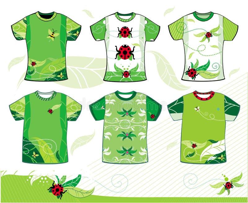 καλοκαίρι τ πουκάμισων &sigma απεικόνιση αποθεμάτων