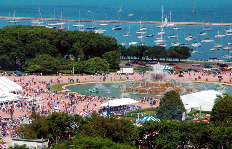 καλοκαίρι φεστιβάλ lakefront στοκ εικόνα