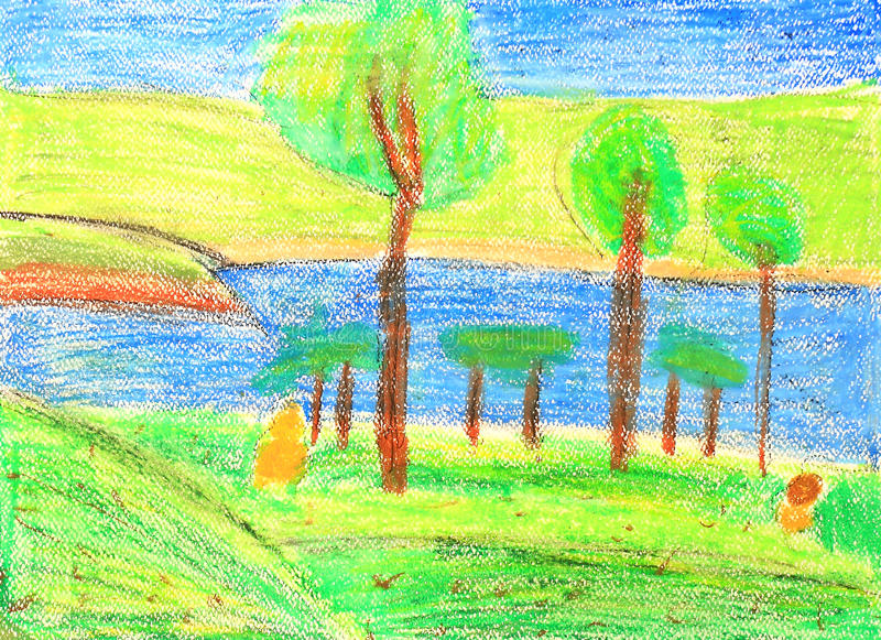 καλοκαίρι χρωμάτων s φύσης π απεικόνιση αποθεμάτων
