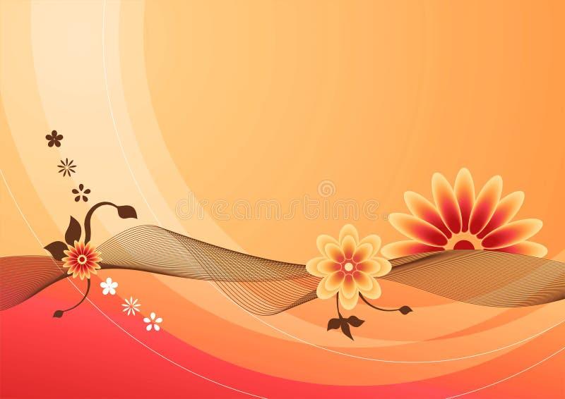 καλοκαίρι 01 λουλουδιώ&nu διανυσματική απεικόνιση