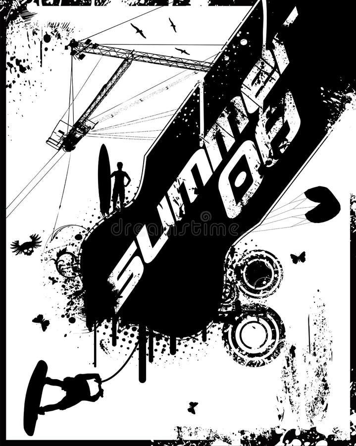 καλοκαίρι 08 grunge διανυσματική απεικόνιση