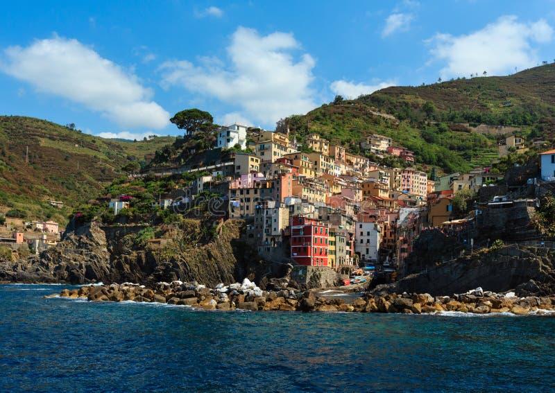 Καλοκαίρι Manarola, Cinque Terre στοκ εικόνα