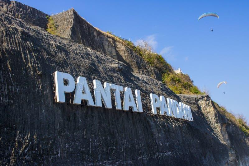 καλοκαιρινές διακοπές του Μπαλί παραλιών pandawa στοκ εικόνες
