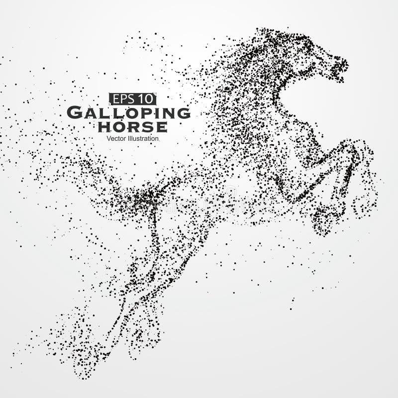 Καλπάζοντας άλογο, πολλά μόρια, σκίτσο, απεικόνιση, η ηθικές ανάπτυξη και η πρόοδος απεικόνιση αποθεμάτων