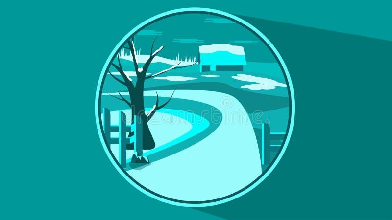 καλυμμένα όρη σπιτιών ελβετικά χειμερινά δάση χιονιού σκηνής μικρά ελεύθερη απεικόνιση δικαιώματος
