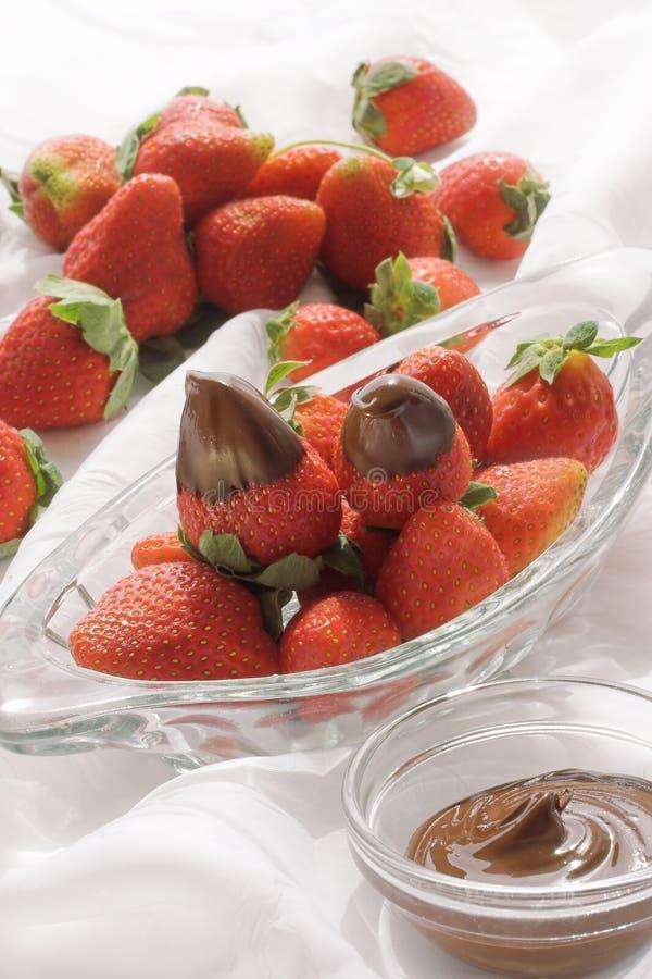 καλυμμένες σοκολάτα φρά&om στοκ εικόνες