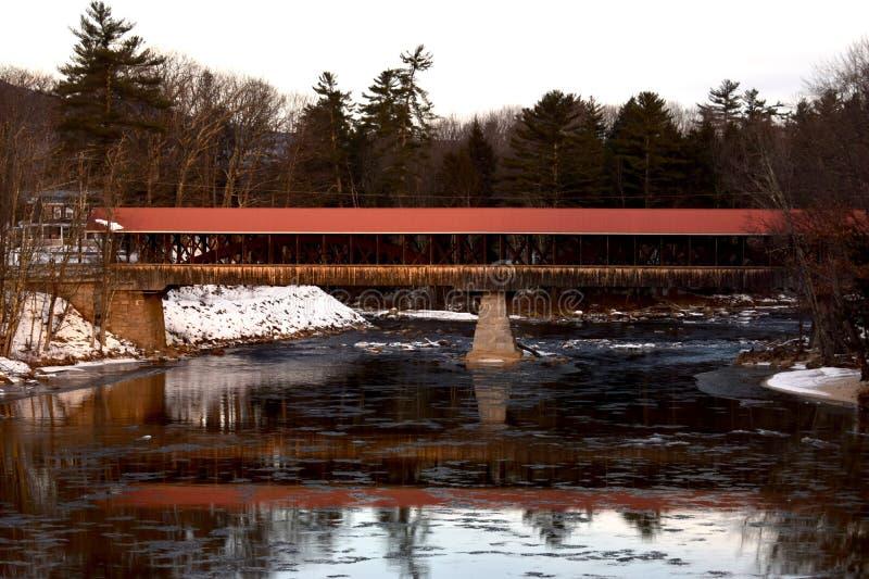 Καλυμμένη γέφυρα στο Βορρά Conway, Νιού Χάμσαιρ στοκ εικόνες