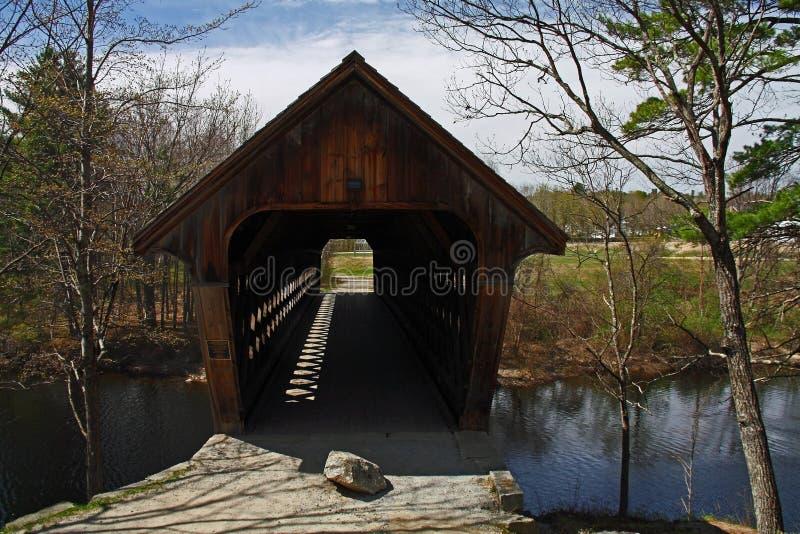 Καλυμμένη γέφυρα στο Νιού Χάμσαιρ στοκ φωτογραφίες με δικαίωμα ελεύθερης χρήσης
