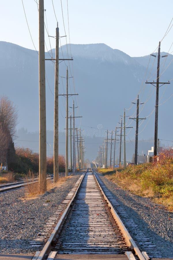 Καλυμμένη παγετός διαδρομή σιδηροδρόμων στοκ εικόνες με δικαίωμα ελεύθερης χρήσης