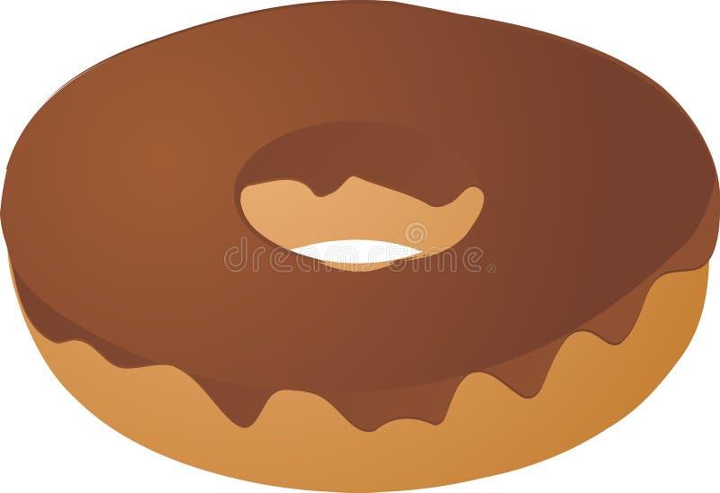 καλυμμένη σοκολάτα doughnut τήξη ελεύθερη απεικόνιση δικαιώματος