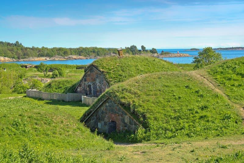 καλυμμένη τύρφη suomenlinna αμμουδι στοκ φωτογραφίες