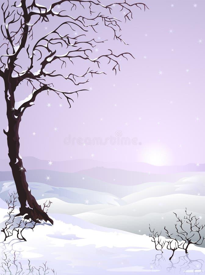 καλυμμένο δέντρο χιονιού ελεύθερη απεικόνιση δικαιώματος