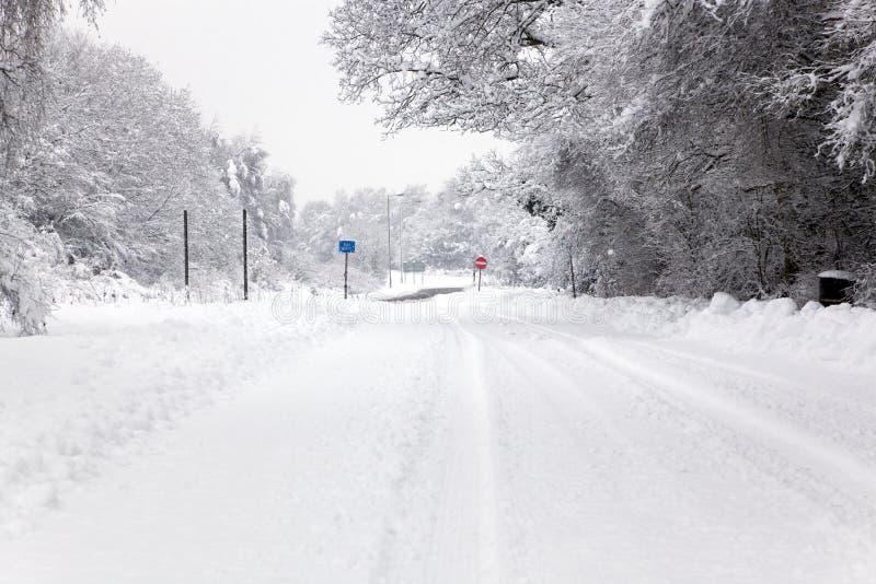 Download καλυμμένο οδικό χιόνι στοκ εικόνα. εικόνα από χειμώνας - 17056965