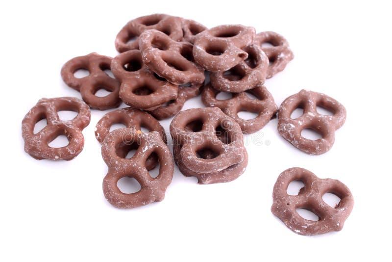 καλυμμένο σοκολάτα pretzel στοκ φωτογραφίες με δικαίωμα ελεύθερης χρήσης