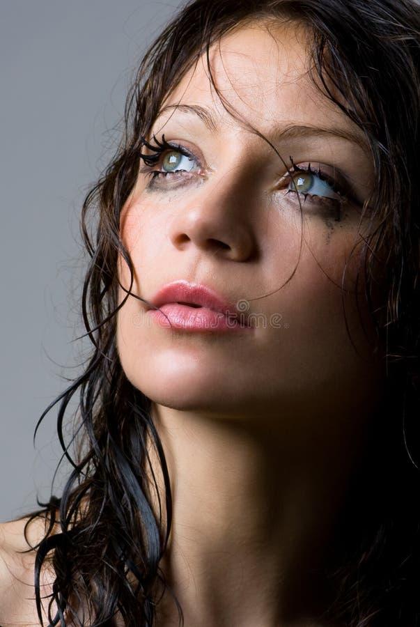 καλυμμένο brunette στούντιο ομορφιάς στοκ εικόνες