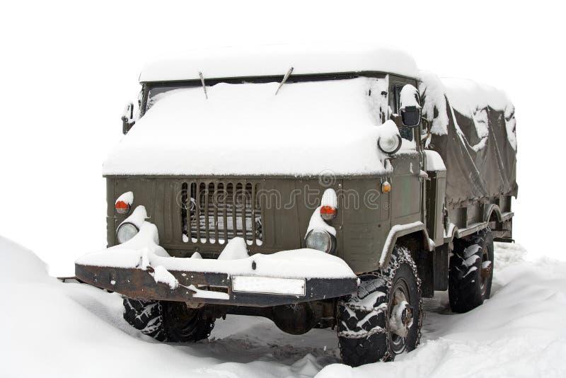 καλυμμένο truck χιονιού στοκ φωτογραφίες
