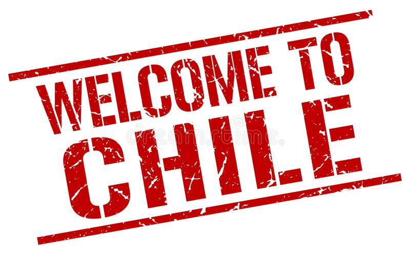 Καλωσορίστε στο γραμματόσημο της Χιλής απεικόνιση αποθεμάτων