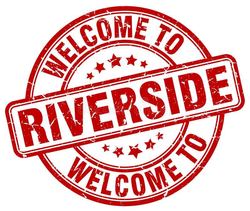 Καλωσορίστε στο γραμματόσημο όχθεων ποταμού απεικόνιση αποθεμάτων