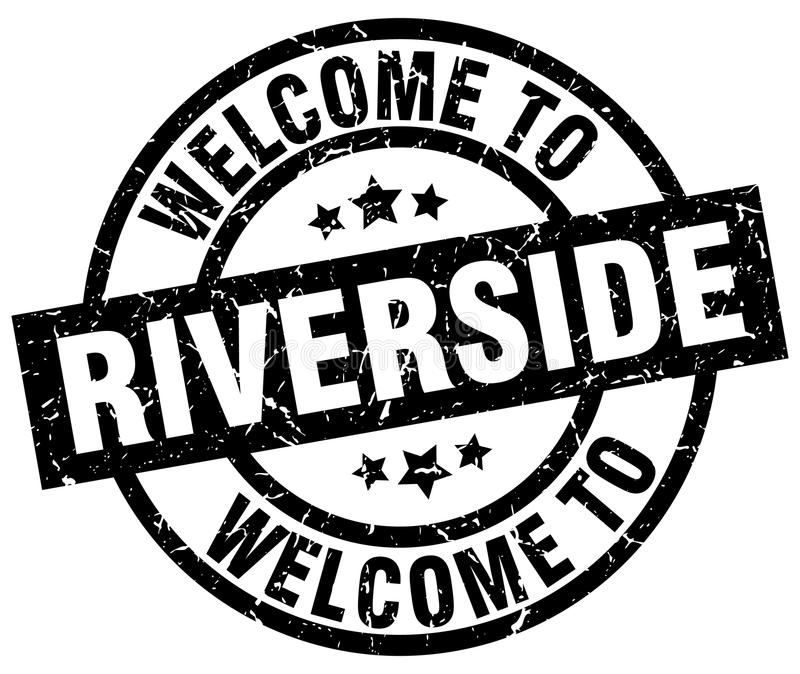 Καλωσορίστε στο γραμματόσημο όχθεων ποταμού ελεύθερη απεικόνιση δικαιώματος