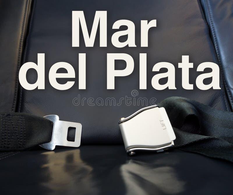 Καλωσορίστε στο Mar del Plata! Μας αφήστε η μύγα, ταξίδι, ταξίδι, γύρος, στοκ φωτογραφία
