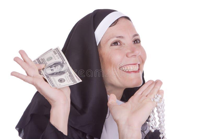 καλόγρια χρημάτων εκμετάλ& στοκ εικόνες