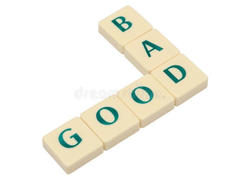 Καλός και κακός στοκ φωτογραφία
