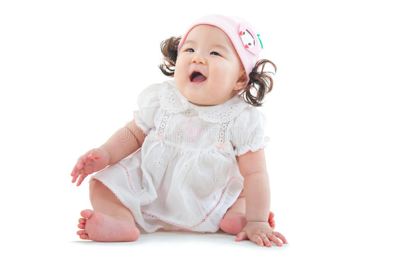 Καλό ασιατικό μωρό στοκ εικόνες