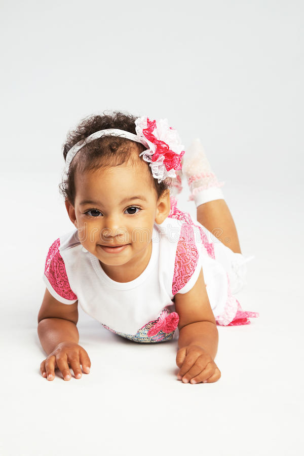 Καλό σερνμένος μικρό κορίτσι στοκ εικόνες