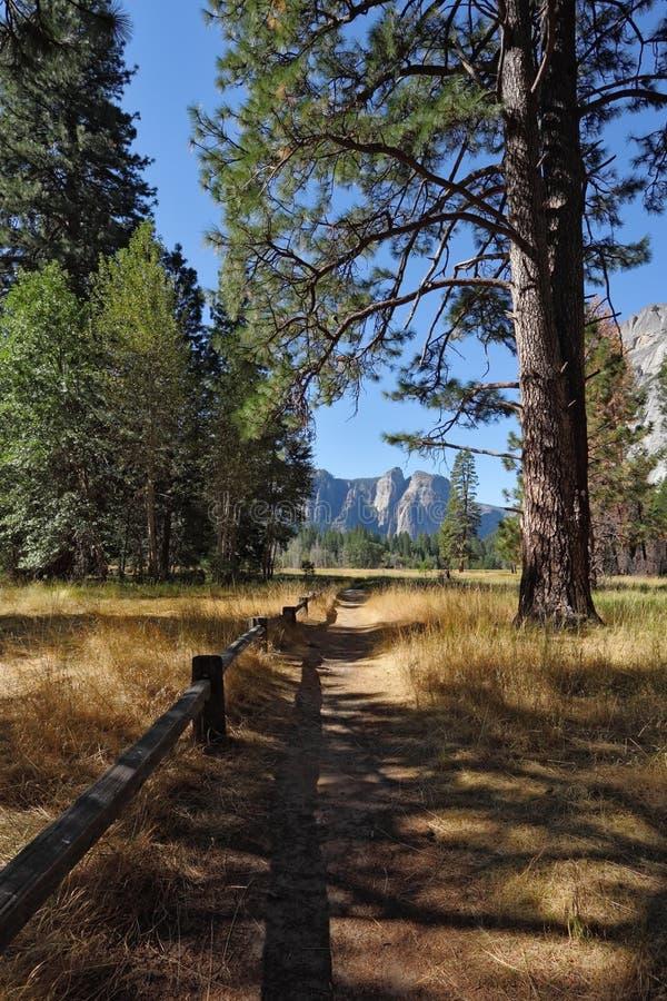 Καλό σκιερό μονοπάτι σε Yosemite στοκ φωτογραφία