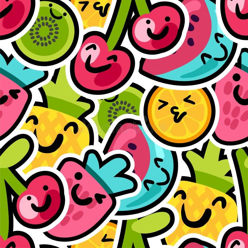 Καλό σχέδιο μιγμάτων μούρων και φρούτων απεικόνιση αποθεμάτων