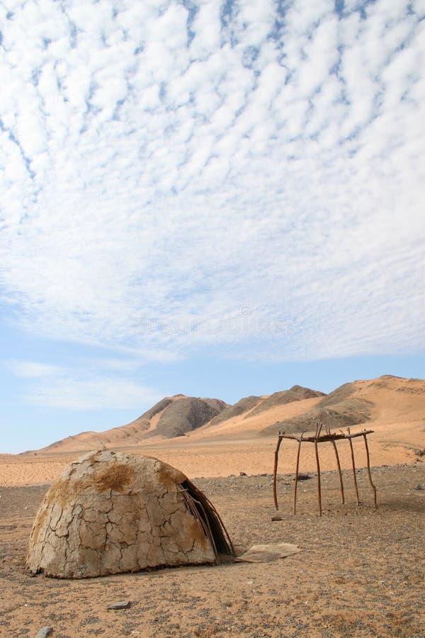 καλύβα himba στοκ εικόνα