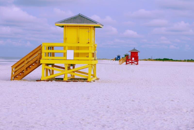 Καλύβες Lifeguard στοκ εικόνα