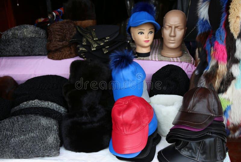 Καλύμματα και καπέλα φιαγμένα από δέρμα στοκ φωτογραφία με δικαίωμα ελεύθερης χρήσης