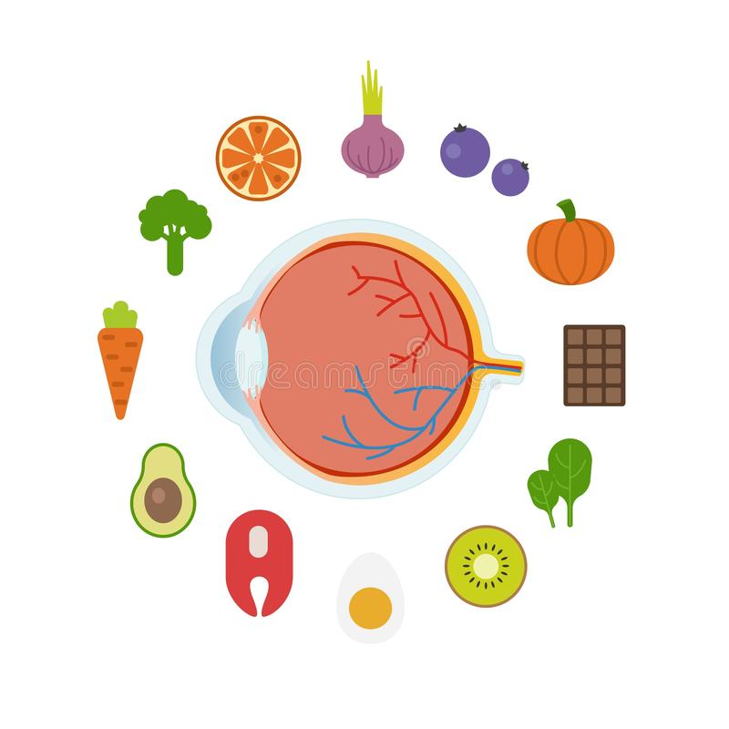 Καλύτερα τρόφιμα για τα μάτια ελεύθερη απεικόνιση δικαιώματος