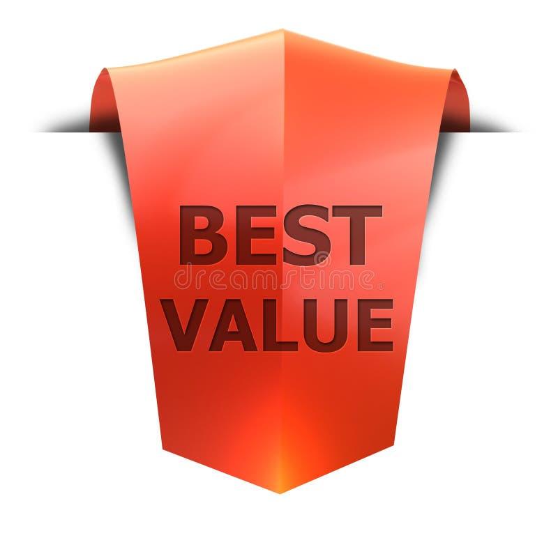 Καλύτερη αξία εμβλημάτων διανυσματική απεικόνιση